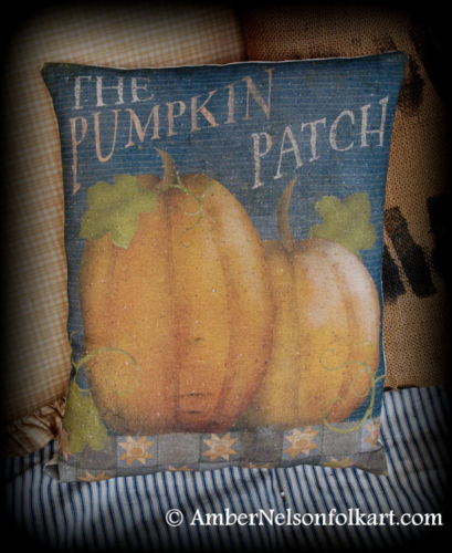 Harvest the pumpkin patch fall Halloween porch bench pillow decor primitive