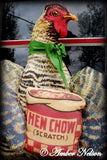 Chicken lovers christmas gift present hen in cowboy boots HUGE door hanger wall