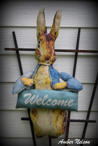 Peter Rabbit baby shower decoration party decor PERSONALIZED name door hanger