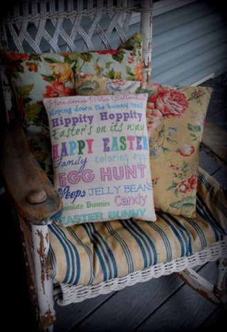 Easter Spring Poster Words Sayings Pillow welcome sign Happy Candy Egg Family