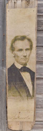 BIG primitive early barn wood patriotic President Abe Lincoln portrait sign wall