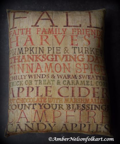 Fall Harvest Autumn saying poster welcome sign pillow porch entry decor rustic