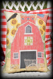 Barn quilt star crow sunflower goat cart porch country primitive pillow flag