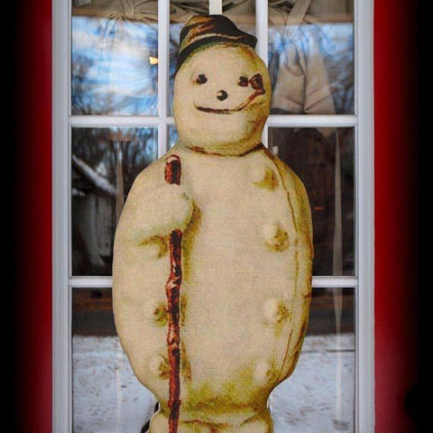 HUGE Winter Frosty The Snowman Door Wreath