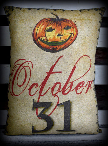 Halloween entry way porch pillow Jack O lantern Pumpkin Oct October 31st