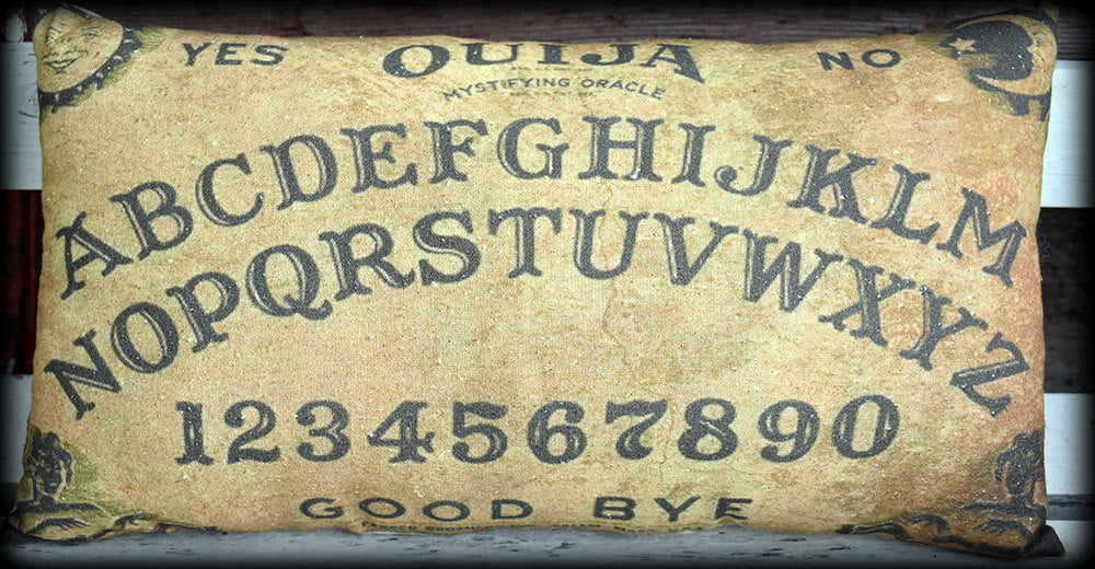 Halloween Ouija Board entry way porch throw pillow old antique party decoration