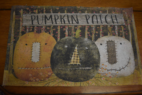 pumpkin patch table place mat