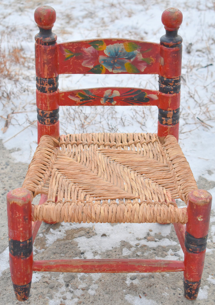 DARLING small tole painted chair  Perfect for peg rack!