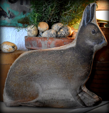 brown right  primitive Spring natural earth garden Easter Rabbit bunny