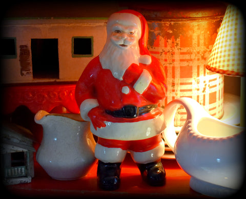 Awesome vintage Christmas ceramic standing Santa Claus