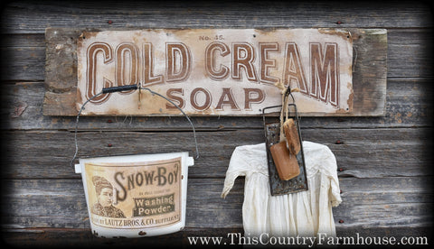 Cold Cream Soap bathroom vignette
