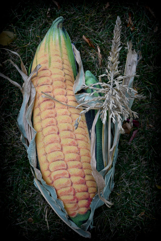 Giant sweet corn pillow