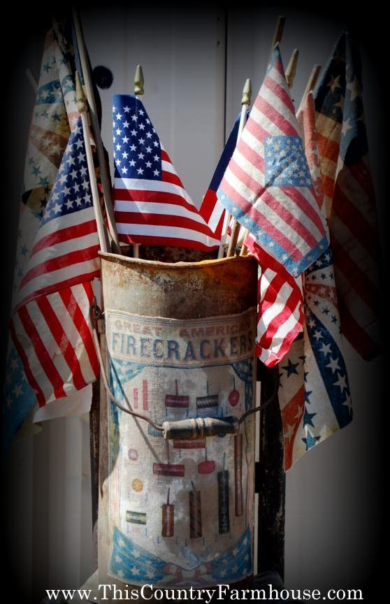 Firecracker flag bucket -I love making these!