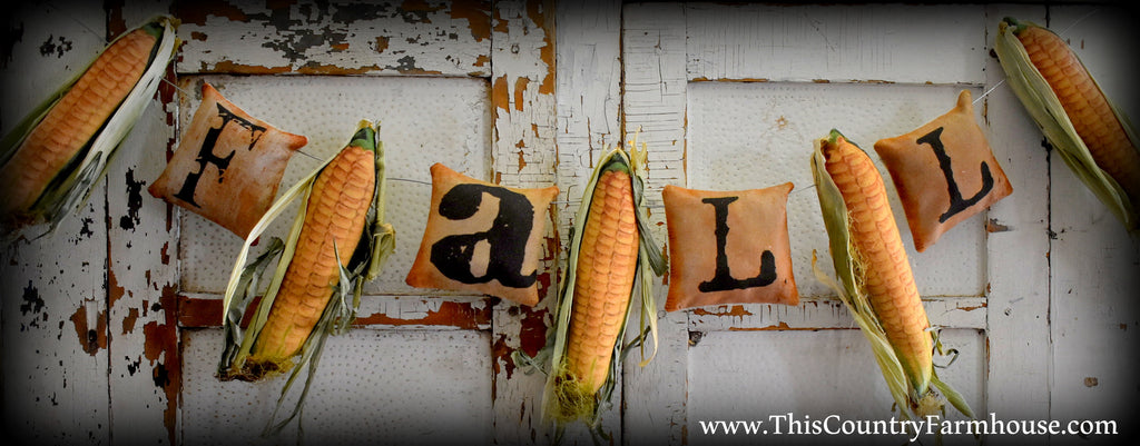 Fall Corn cob garland *LAST STRAND*