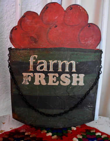 Old Farm Fresh Apples metal sign So sweet!
