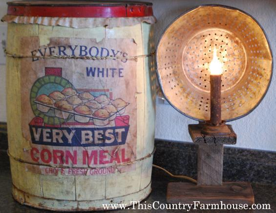 Corn Meal and Reflector light -Both made by me
