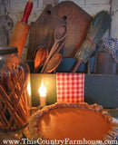 Warm pie and candle light