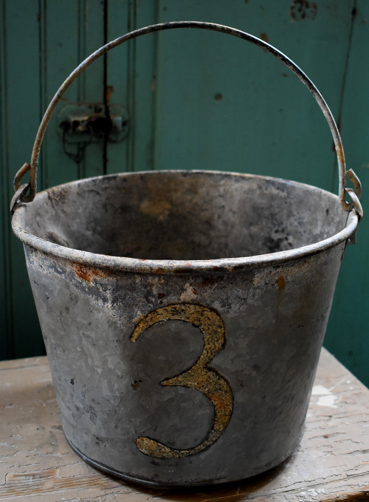 antique Farmhouse number 3 old pail milk cow bucket