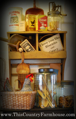 Shelf at the pantry door