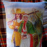 Thanksgiving Pilgrim Couple Turkey Hunting Pillow