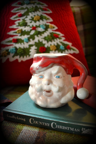 Majolica antique Santa Claus Mug