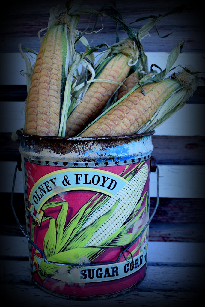 Metal sugar corn bucket