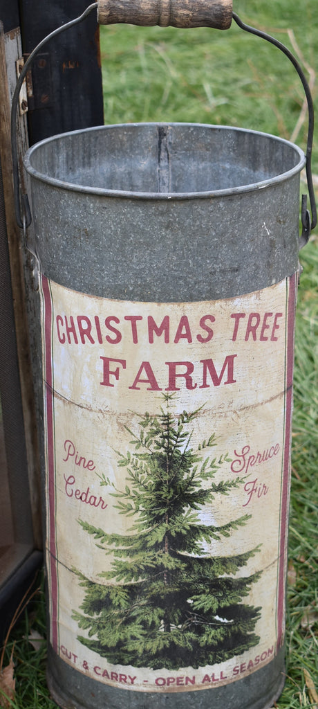 Christmas tree farm bucket- just add your tree!