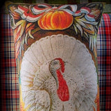 Thanksgiving Day Pumpkin Turkey Flag Pillow