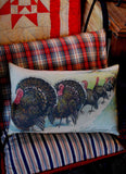 Thanksgiving Day Turkey Parade Pillow