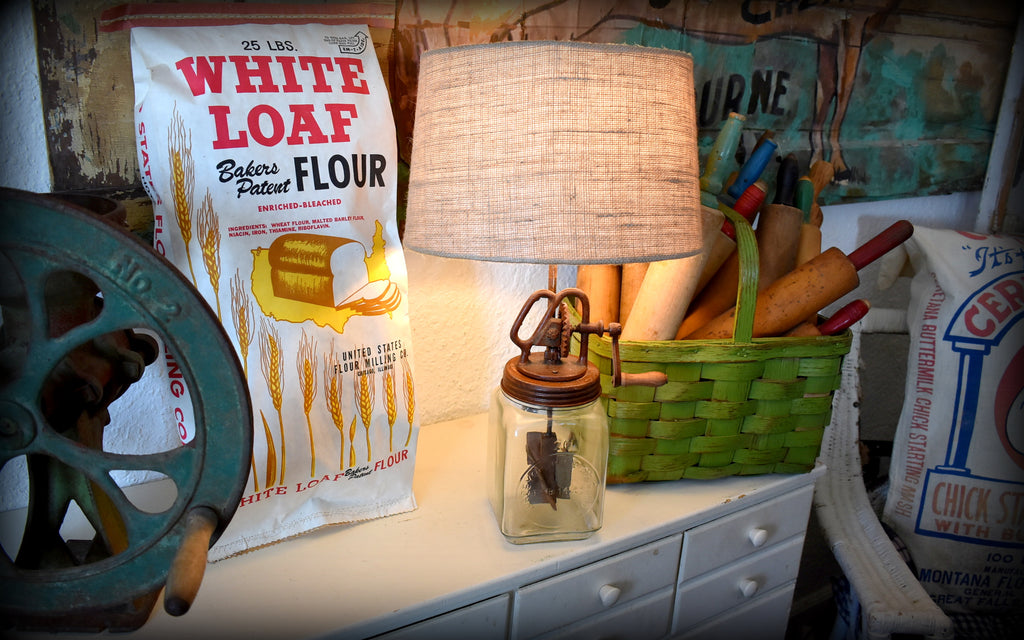 White Loaf Flour stuffed vintage pillow paper sack bag buttery
