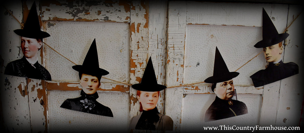 Season of the witch Halloween garland altered art