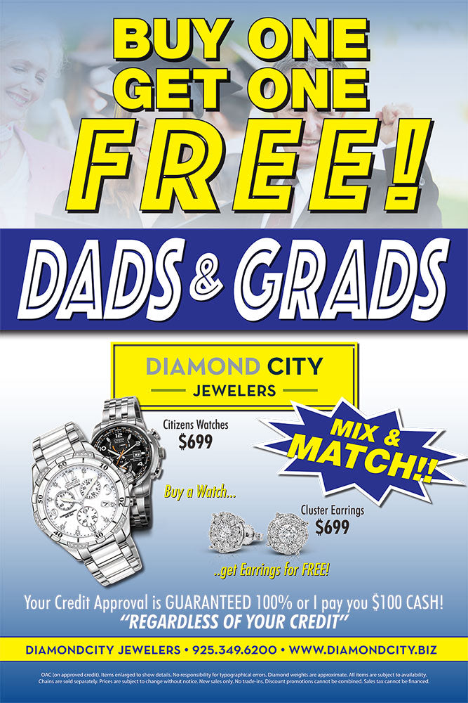 Dads & Grads BUY ONE GET ONE FREE