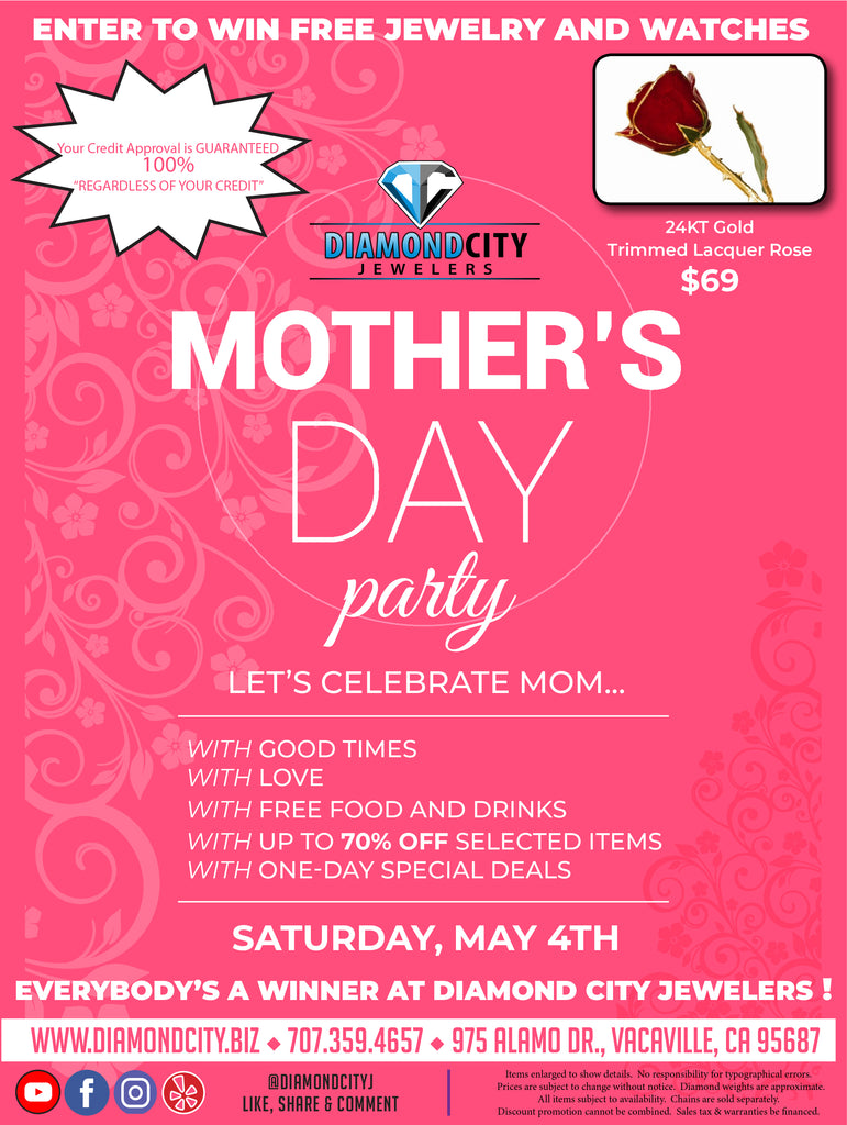 Party let's celebrate Mom