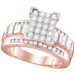 10kt Rose Gold Womens Round Diamond Cindy's Dream Cluster Bridal Wedding Engagement Ring 2.00 Cttw