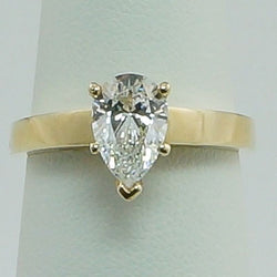 1.25ctw Pear Diamond Hybrid Engagement Ring