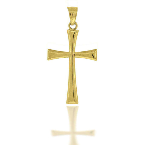 10KT Gold Plain Cross Pendant