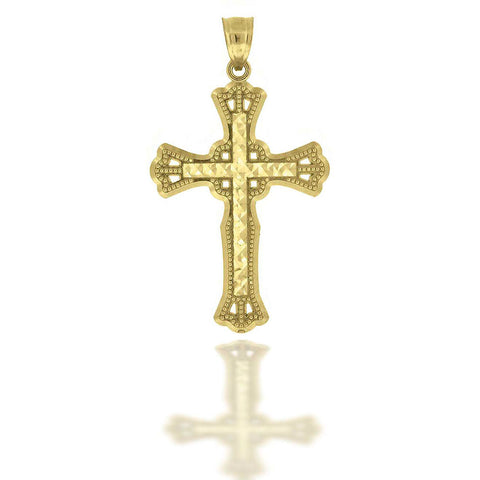 10KT Gold D/C Cross Pendant