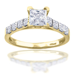 10KT Gold CZ Fashion Ring