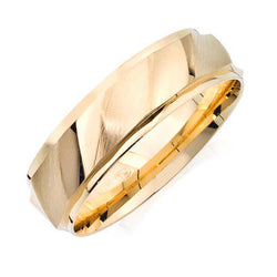 10K Gold Engraved Gents Band