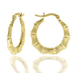 10KT Gold Fashion Hoops Earring