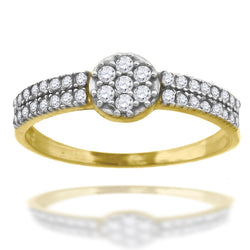 10KT Gold Ladies Cluster Ring