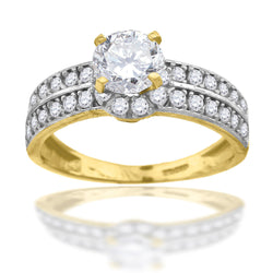 10KT Gold CZ Ring