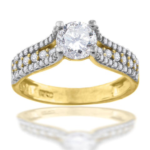 10KT CZ Gold Ring