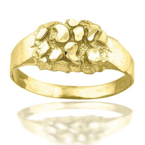 10KT Gold Nugget Ring