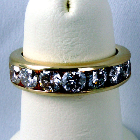 14K Yellow Gold APPROX. 1.60CT TWT, 7 Diamond Band