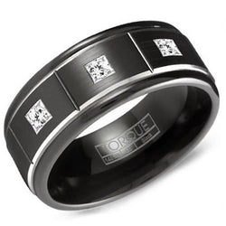 Black Cobalt and Diamond Ring