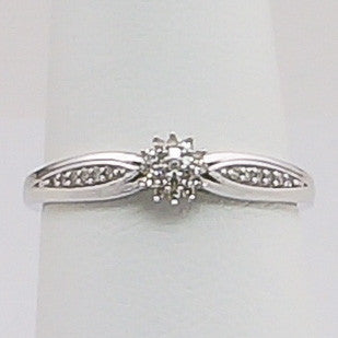 10K White Gold .10CT Diamond  Ladies Ring