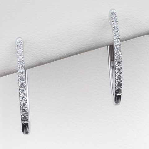 14K 0.25CT White Gold Diamond Earrings