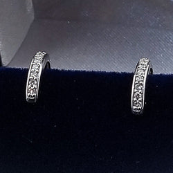 10K 0.15CT White Gold Diamond Earrings