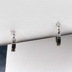 10K .05CT Diamond Earrings